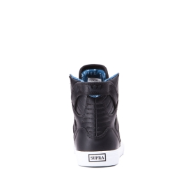 Kids Supra High Top Shoes SKYTOP Black/white | AU-53784