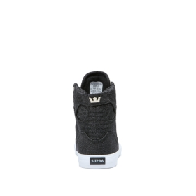 Kids Supra High Top Shoes SKYTOP Black Sparkle/White | AU-37724