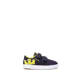 Kids Supra Low Top Shoes TODDLER STACKS II V Navy/Yellow/white | AU-69280