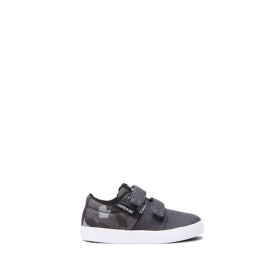 Kids Supra Low Top Shoes TODDLER STACKS II V Dk Grey/Camo/white | AU-46718