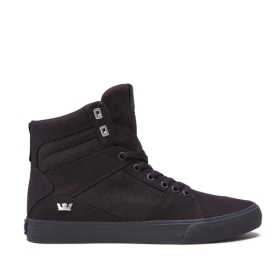 Mens Supra High Top Shoes ALUMINUM Black/black | AU-58430