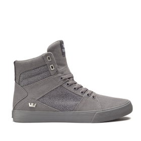 Mens Supra High Top Shoes ALUMINUM Grey/grey | AU-41987