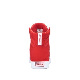 Mens Supra High Top Shoes ALUMINUM Risk Red/white | AU-68953