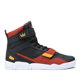 Mens Supra High Top Shoes BREAKER Black/Bossa Nova/Golden/white | AU-53287