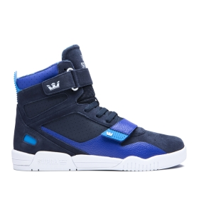 Mens Supra High Top Shoes BREAKER Navy/Royal/white | AU-37048