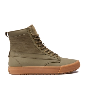 Mens Supra High Top Shoes GRAHAM CW Olive/Lt Gum | AU-13731