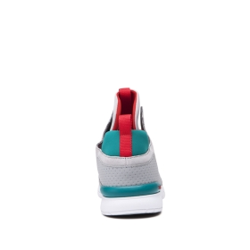 Mens Supra High Top Shoes METHOD Lt. Grey/Teal/white | AU-23173