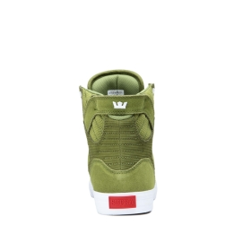 Mens Supra High Top Shoes SKYTOP Moss/white | AU-50041
