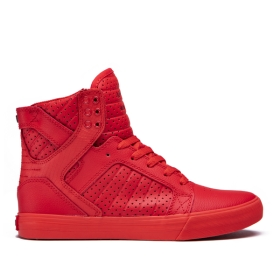 Mens Supra High Top Shoes SKYTOP Red | AU-99535