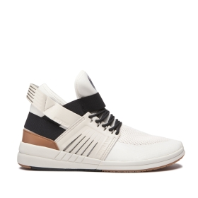 Mens Supra High Top Shoes SKYTOP V Bone/Black/bone | AU-45780