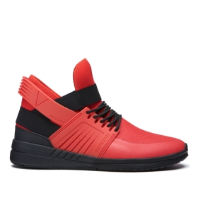 Mens Supra High Top Shoes SKYTOP V Risk Red/Black/black | AU-77786