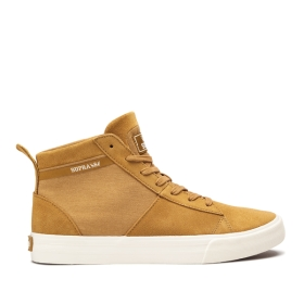 Mens Supra High Top Shoes STACKS MID Tan/bone | AU-93254