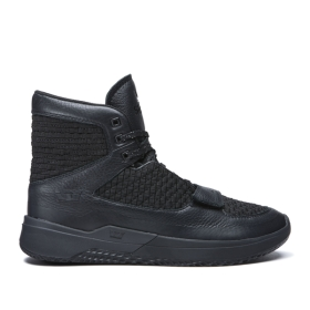 Mens Supra High Top Shoes THEORY Black/Black | AU-66136