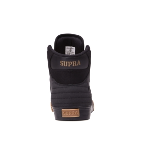 Mens Supra High Top Shoes VAIDER Black/Black/gum | AU-49642