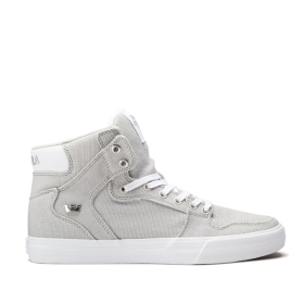Mens Supra High Top Shoes VAIDER Cool Grey/Silver/white | AU-60403