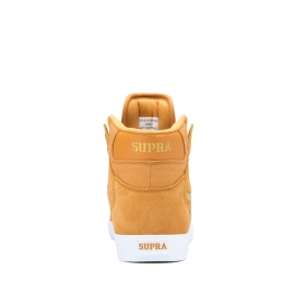 Mens Supra High Top Shoes VAIDER Desert/Gold/white | AU-98353