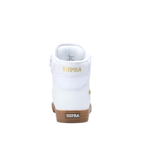Mens Supra High Top Shoes VAIDER White/Gold/lt Gum | AU-15246