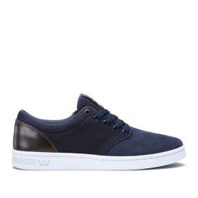 Mens Supra Low Top Shoes CHINO COURT Blue/Gray | AU-30922