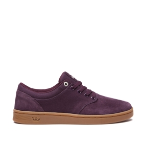Mens Supra Low Top Shoes CHINO COURT Wine/gum | AU-36446