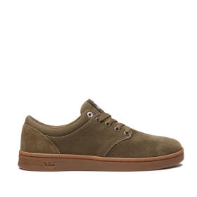 Mens Supra Low Top Shoes CHINO COURT Olive/gum | AU-41983