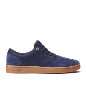 Mens Supra Low Top Shoes CHINO COURT Midnight/gum | AU-65909