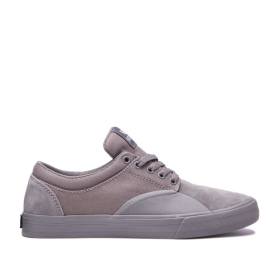 Mens Supra Low Top Shoes CHINO Grey/grey | AU-40949