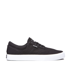 Mens Supra Low Top Shoes COBALT Black/white | AU-11499