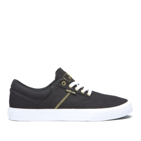 Mens Supra Low Top Shoes COBALT Black/Gold/white | AU-40841