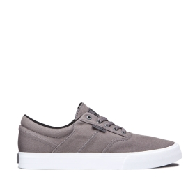 Mens Supra Low Top Shoes COBALT Grey/white | AU-66813