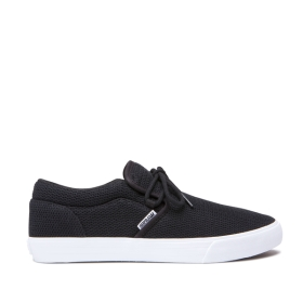 Mens Supra Low Top Shoes CUBA Black Heather/ White | AU-34554