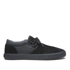 Mens Supra Low Top Shoes CUBA Black/black/Camo | AU-14711