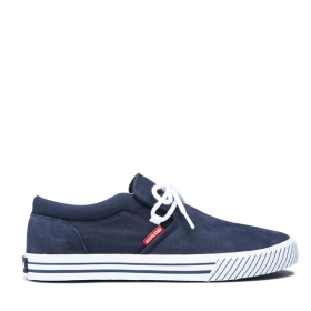Mens Supra Low Top Shoes CUBA Navy/White/white | AU-91621