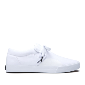 Mens Supra Low Top Shoes CUBA White | AU-45535