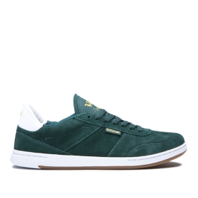 Mens Supra Low Top Shoes ELEVATE Evergreen/white | AU-22637