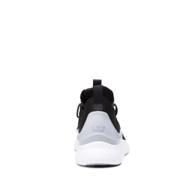Mens Supra Low Top Shoes FACTOR Black/Lt Grey/white | AU-19818