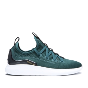 Mens Supra Low Top Shoes FACTOR Evergreen/white | AU-32817