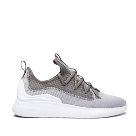 Mens Supra Low Top Shoes FACTOR Lt Grey/Grey/white | AU-91649