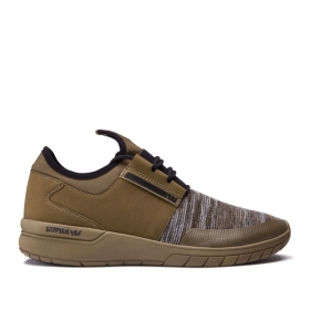 Mens Supra Low Top Shoes FLOW RUN Olive Multi/olive | AU-62350
