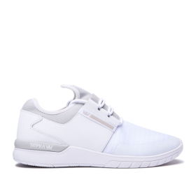 Mens Supra Low Top Shoes FLOW RUN White/Lt Grey/white | AU-94378
