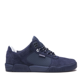 Mens Supra Low Top Shoes FULTON Navy/navy | AU-55668