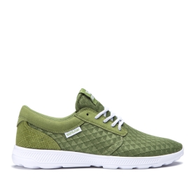 Mens Supra Low Top Shoes HAMMER RUN Moss/white | AU-12185