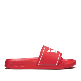 Mens Supra Low Top Shoes LOCKUP Risk Red | AU-84499