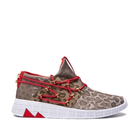 Mens Supra Low Top Shoes MALLI Animal/white | AU-79930