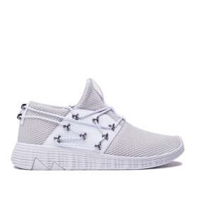 Mens Supra Low Top Shoes MALLI Cool Grey/white | AU-45521