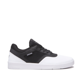 Mens Supra Low Top Shoes SAINT White/Black/White | AU-49892