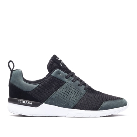 Mens Supra Low Top Shoes SCISSOR Deep Teal/Black/Translucent | AU-49473