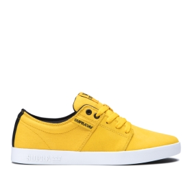 Mens Supra Low Top Shoes STACKS II Caution/Black/white | AU-88159