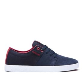 Mens Supra Low Top Shoes STACKS II Navy/Rose/white | AU-36370