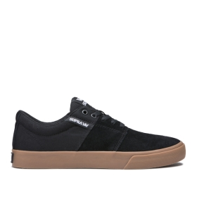 Mens Supra Low Top Shoes STACKS II VULC Black/Gum | AU-58998