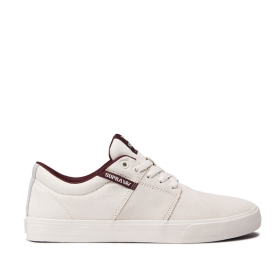 Mens Supra Low Top Shoes STACKS II VULC Off White/off White | AU-95986